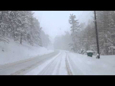Cripple Creek to Colorado Springs in a Blizzard