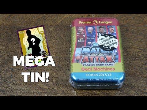 MEGA TIN OPENING! Match Attax 2017/18 Premier League