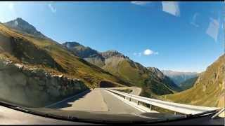 Breathtaking Road Through Stelvio Pass (Eastern Alps), Italy-Switzerland-Italy.