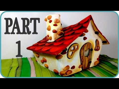 ❣DIY Fairy House - Part 1/3 - Making the faux wood fairy door and windows❣