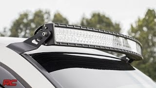 1999 2006 gm 54 inch curved led light bar upper windshield mount by rough country