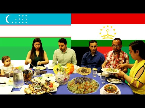Iranians and Afghans Try Tajik-Uzbek Food (Persian with English subtitles) - به فارسی