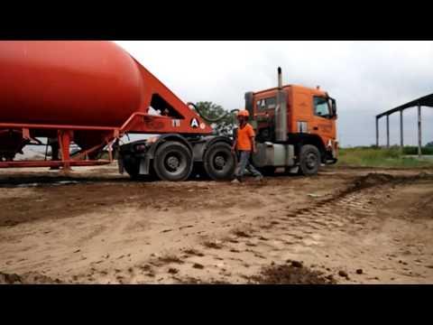 Bulk cement discharge.