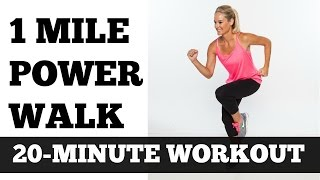 1 Mile Power Walk Full Length Walking Workout Video Low Impact