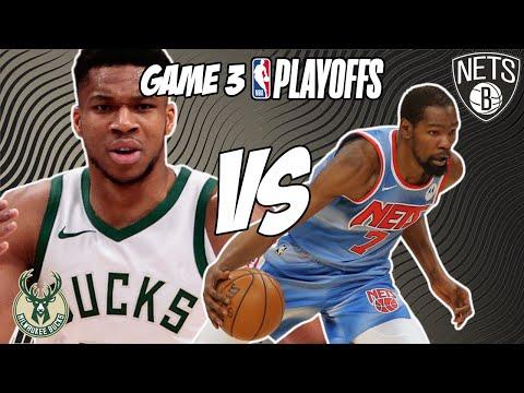 Milwaukee Bucks vs Brooklyn Nets Game 3 6/10/21 NBA Playoff Free NBA Pick & Prediction