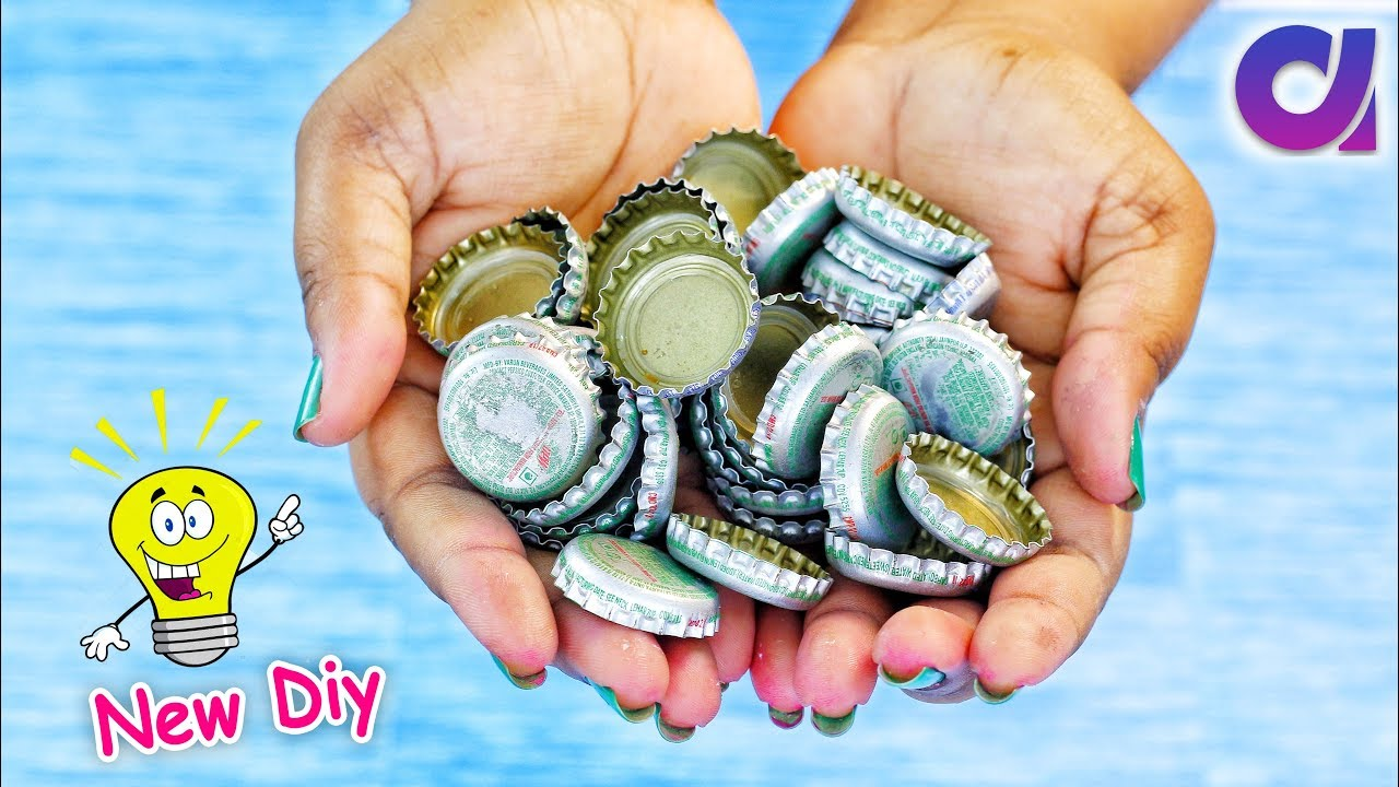 How to make cool craft from waste metal bottle caps | Best Out of waste |  Artkala 458