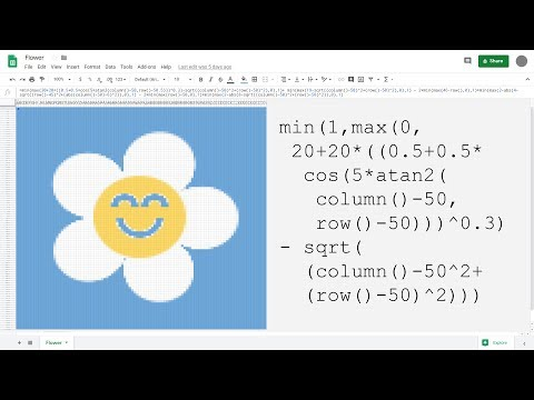 How to paint a flower with maths in Google Sheets thumbnail