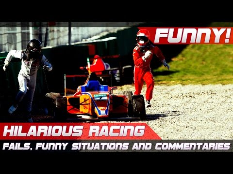 FUNNY RACING! Best of Fails, Hilarious Situations and Commentaries of 2016-2020 Compilation