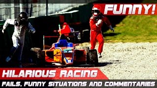 FUNNY RACING! Best of Fails, Hilarious Situations and Commentaries of 2016-2019 Compilation