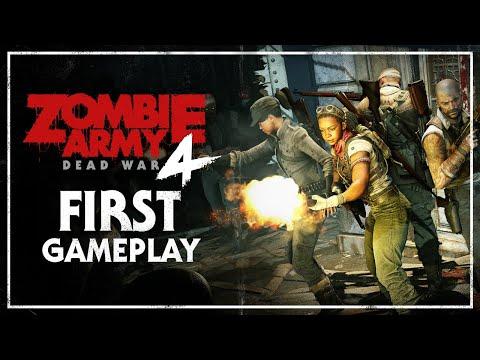 В геймплейном ролике Zombie Army 4: Dead War четверо игроков топчут головы зомби