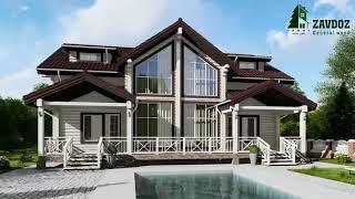 Деревянный дом из клееного бруса. Проект дома 12012.(, 2017-11-13T05:38:35.000Z)