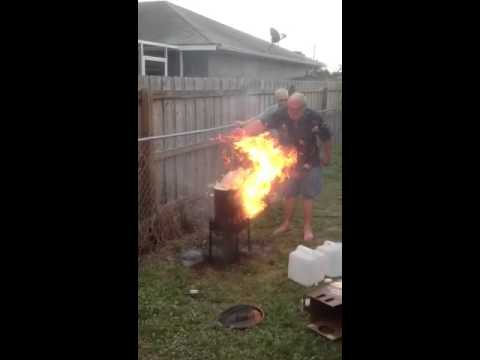 Fried turkey fire - YouTube