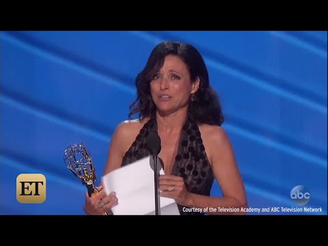 Julia Louis Dreyfus Tears Up At Emmys After Losing Her Father