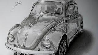 How To Draw VW Fusca (Speed Draw)