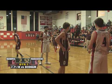 Milford Scarlet Hawks Basketball- February 21, 2018 vs Dedham