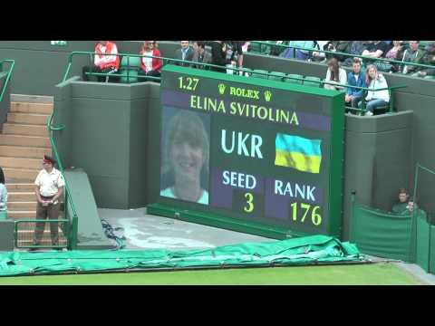 Elina Svitolina vs Eugenie Bouchard: Coin Toss & Warm Up (Wimbledon 2012)
