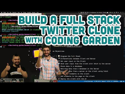 Build A Full Stack Twitter Clone With Coding Garden