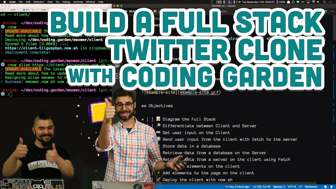 Download Build a Full Stack Twitter Clone with Coding Garden
