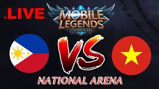 [LIVE] Philippines vs Vietnam National Arena & Custom Games | 1v1 Giveaway -Mobile Legends Season 9