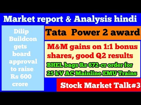 StockMarket Talk#3- M&M 1:1 bonus shares,Suzlon energy project,BHEL 672-cr order, Tata rating,Tax.