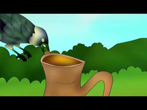 Cartoon Kahani for Kids in Urdu  - Ek Kauwa Pyaasa tha Poem