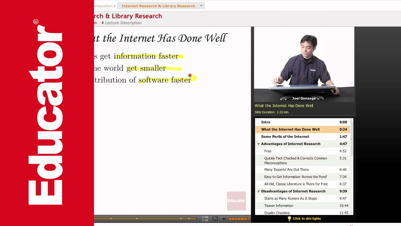 internet library research essay