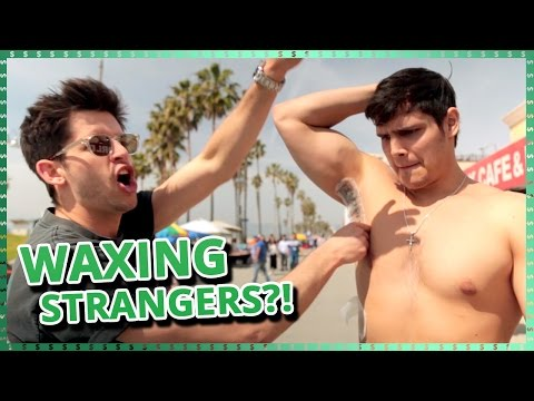 Waxing Strangers Challenge    Do It For The Dough w/ Ayydubs and Hunter March