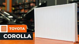 Kuinka vaihtaa raitisilmasuodatin TOYOTA COROLLA VERSO 2 -merkkiseen autoon OHJEVIDEO | AUTODOC