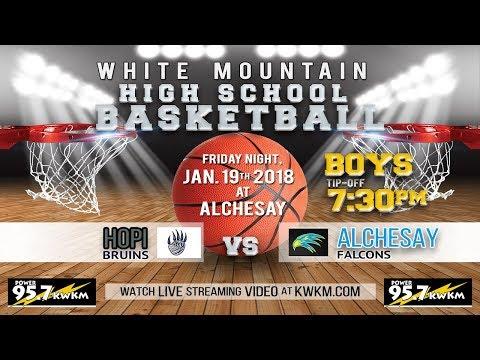 Boys High School Basketball Hopi Bruins vs Alchesay Falcons