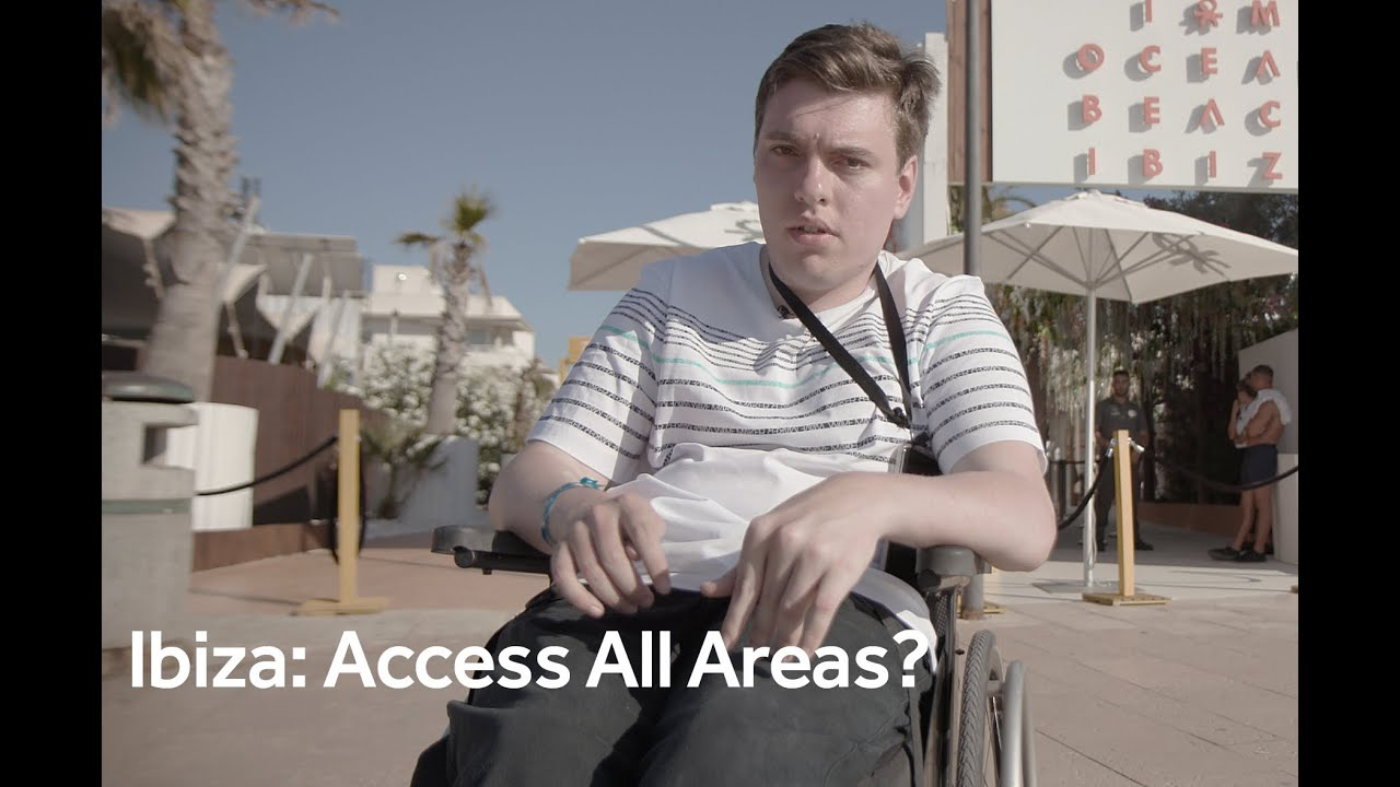 Ibiza: What it's like raving in a wheelchair on the party island