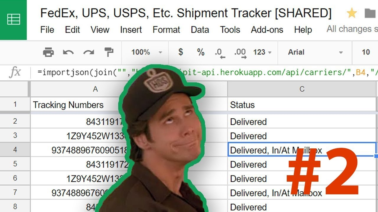 Track FedEx and UPS Packages in Google Sheets 📦 #2 - Delivery Date,  Method, Weight, Etc
