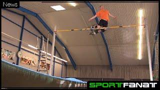 Lars Oetken stellt Weltrekord im Sprungstelzen-Hochsprung auf