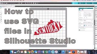 Silhouette Studio V4.1 - Using SVGs