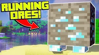 WHAT IF ORES COULD RUN AWAY IN MINECRAFT?! | Minecraft Mods