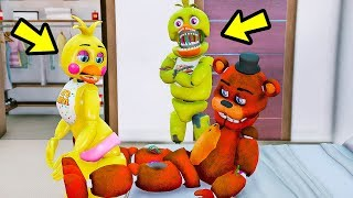 O QUE ACONTECE se CHICA PEGAR Withered FREDDY COM A TOY CHICA? | GTA V Mods Five Nights at Freddy's