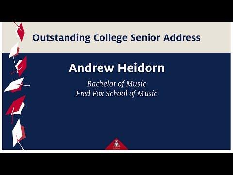 CFA Fall 2017 Graduation Convocation - Outstanding Senior Address