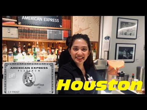 IAH - AMEX American Express Centurion Lounge - Houston IAH Airport Lounge