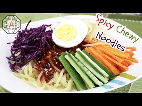 【Korean Food】 Spicy Cold Chewy Noodles (쫄면)