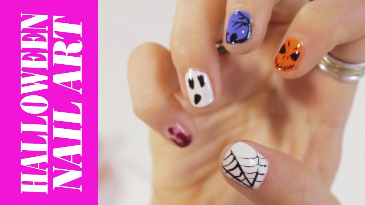 easy halloween nail art step-step