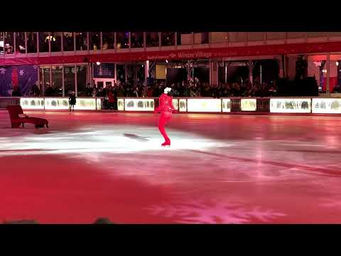 Johnny Weir's Performance at Bryant Park, NYC (2017)