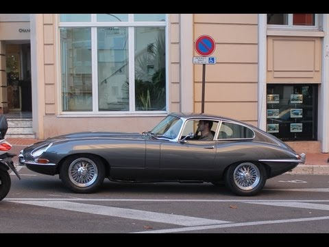 JAGUAR E-TYPE S1 - Driving and sound in Monaco 2013 HQ