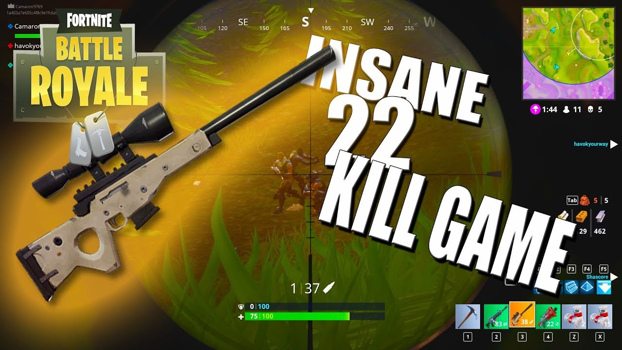 22 Kill Fortnite Win With Legendary Sniper Fortnite Battle