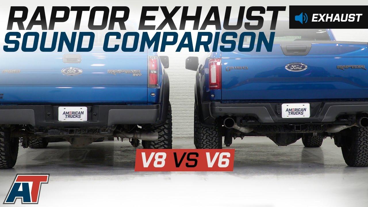 2012 ford raptor v8 vs 2017 raptor v6 ecoboost exhaust sound comparison exhaust recommendation