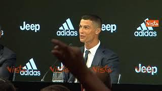 La prima conferenza stampa di Cristiano Ronaldo alla Juve