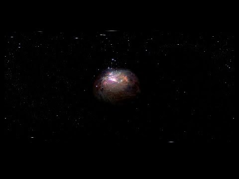 Flight Through the Orion Nebula in Visible Light - 360 Video