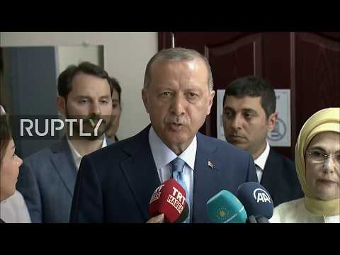 LIVE: Turkish general election 2018: Erdogan casts his vote