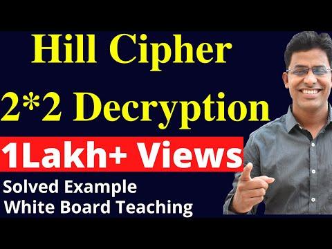 Hill Cipher Decryption 2by2 Matrix