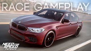 NEED FOR SPEED PAYBACK - BMW M5 RACE GAMEPLAY (GAMESCOM 2017 GAMEPLAY)