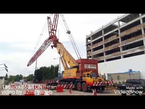 Tadano 360ton membuka jaking tower crane n lafing crane