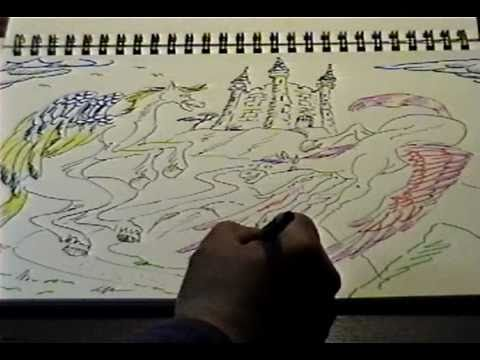 DRAWING 2 flying horses.wmv